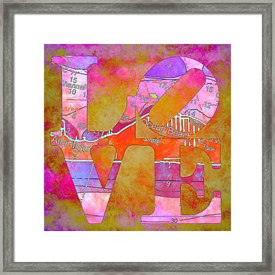 Love Long Island V2 Framed Print by Brandi Fitzgerald