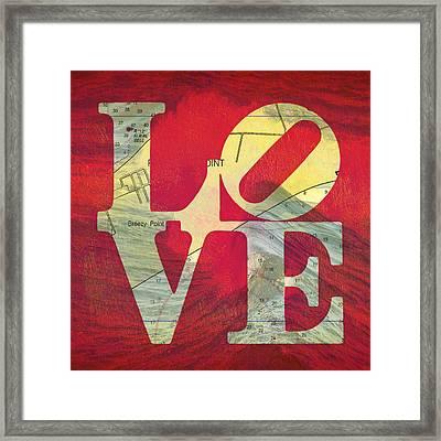 Love Long Island V5 Framed Print by Brandi Fitzgerald