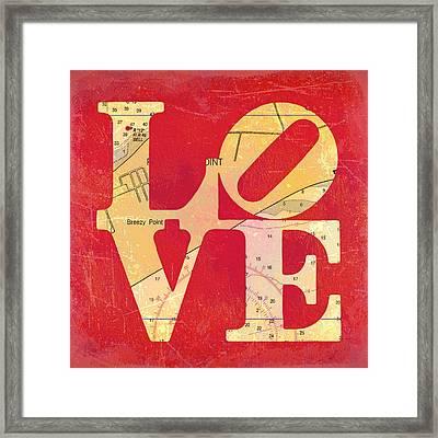 Love Long Island V6 Framed Print by Brandi Fitzgerald