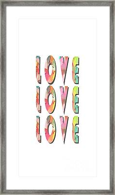 Love Love Love Phone Case Framed Print by Edward Fielding
