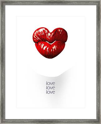 Love Poster Framed Print