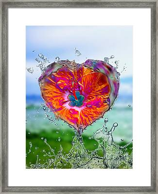 Love Makes A Splash Framed Print