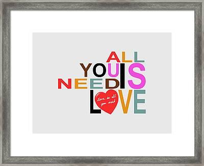 Love Framed Print by Mal Bray