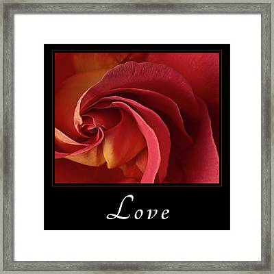 Framed Print featuring the photograph Love by Mary Jo Allen