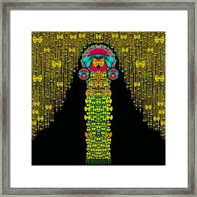 Love Me Give Me A Home Indoors Popart Framed Print