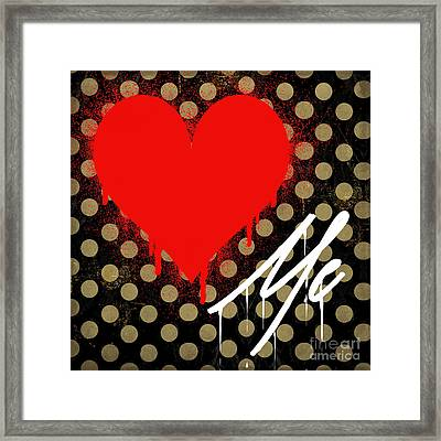 Love Me II Framed Print by Mindy Sommers
