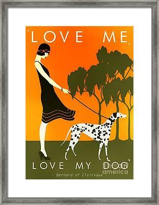 Love Me Love My Dog - 1920s Art Deco Poster Framed Print