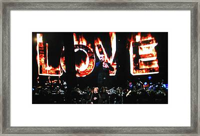 Framed Print featuring the photograph Love Me Some George Michael And Adele by Toni Hopper