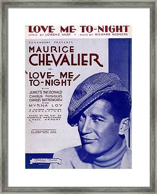 Love Me To-night Framed Print by Mel Thompson