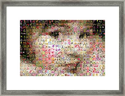 Love Me With Flowers Framed Print