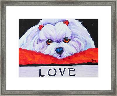 Love Framed Print by Meg Keeling