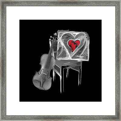 Love Melody Framed Print
