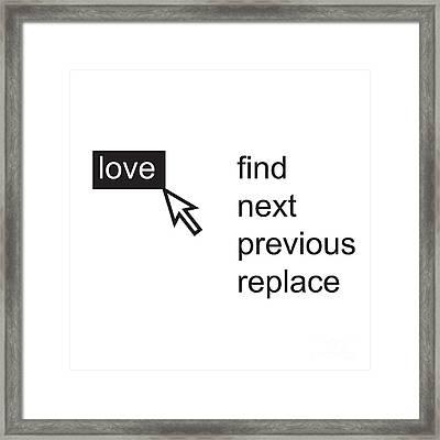 Love Menu Framed Print