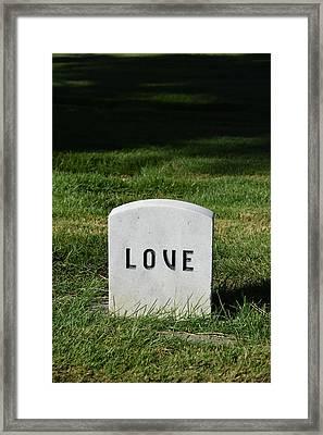 Love Monument Framed Print