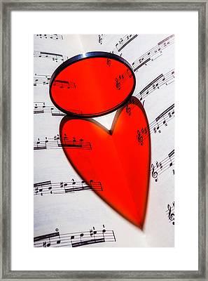Love Music Framed Print