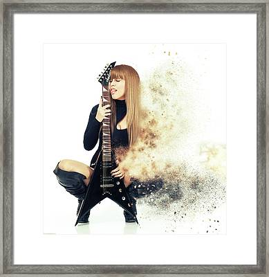 Love Music Framed Print by Nichola Denny