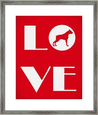 Love My Boxer Framed Print