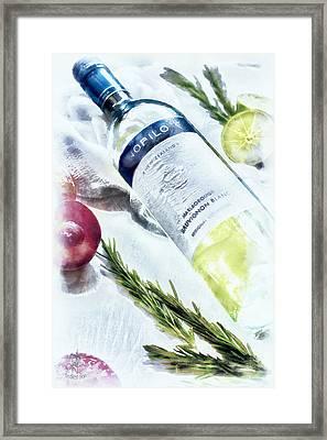 Love My Wine Framed Print by Pennie  McCracken