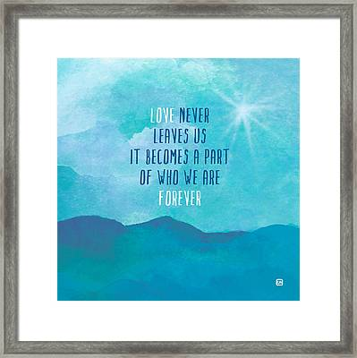 Framed Print featuring the painting Love Never Leaves by Lisa Weedn