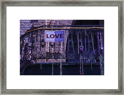 Love New Orleans Framed Print by Garry Gay