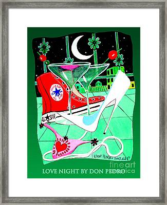 Framed Print featuring the painting Love Night by Don Pedro De Gracia