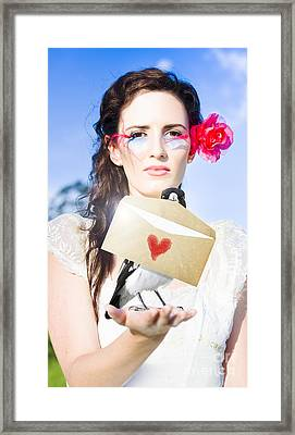 Love Note Delivery From The Heart Framed Print by Jorgo Photography - Wall Art Gallery