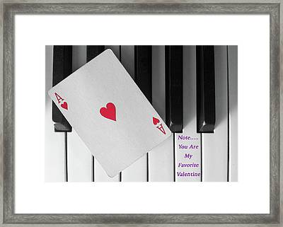 Love Notes Framed Print by Don Spenner
