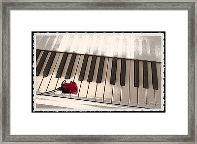 Framed Print featuring the photograph Love Notes by Terri Harper