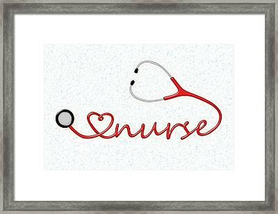 Love Nurse Framed Print by Anastasiya Malakhova
