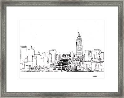 Love Nyc Monochrome Framed Print by Callan Percy