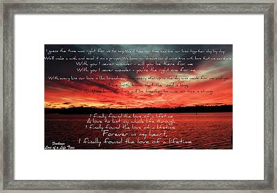 Love Of A Lifetime Framed Print