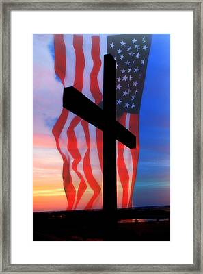 Love Of God And Country Framed Print by Erin Theisen