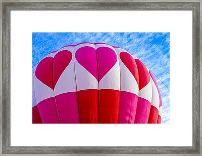 Love Of Hot Air Balloons Framed Print by Teri Virbickis