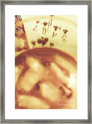 Love Of Whisky And Card Games Framed Print by Jorgo Photography - Wall Art Gallery