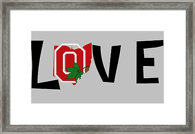 Love Ohio Framed Print by Dan Sproul