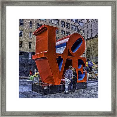 Love On A Street Corner Framed Print
