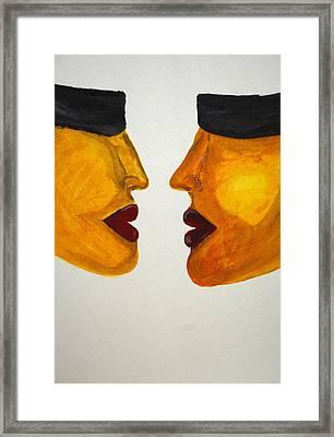 Love-on-line Framed Print by Irum Iftikhar