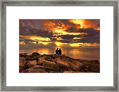 Love On The Rocks Framed Print