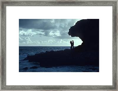 Love On The Rocks Framed Print