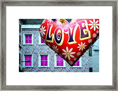Love On The Roof Tops Framed Print by Jez C Self