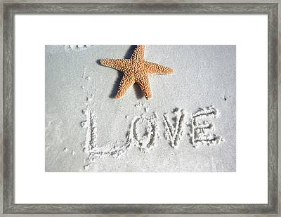 Love On The Sand Framed Print
