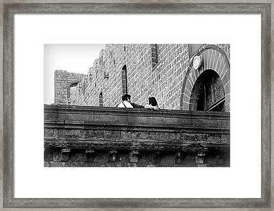 Love On The Walls Framed Print