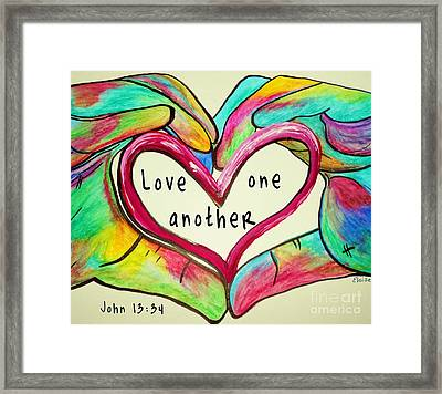 Love One Another John 13 34 Framed Print