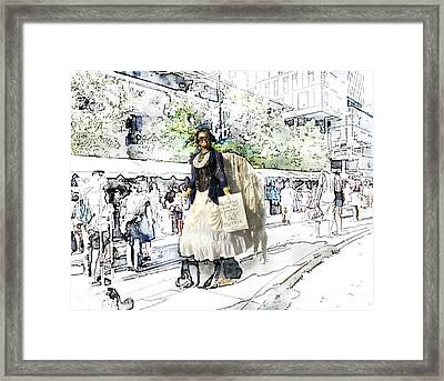 Love One Another - Steampunk Angel Framed Print by Marianna Mills