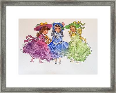 Love Our Kittens Framed Print by Marilyn Jacobson
