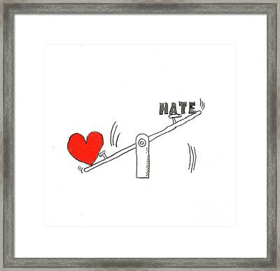 Love Outweighs Hate Framed Print