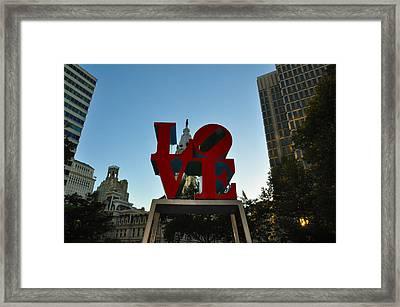 Love Park In Philadelphia Framed Print by Bill Cannon