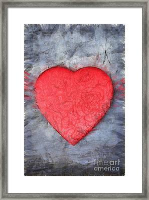 Love Pencil Framed Print by Edward Fielding