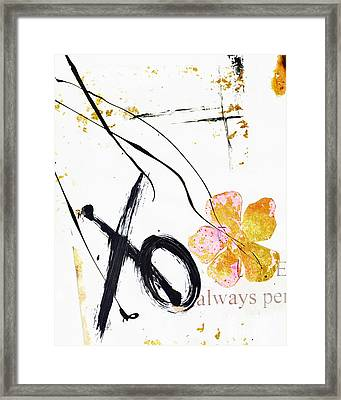 Love Perseveres Xo Collage Framed Print by Anahi DeCanio