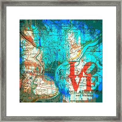 Love Philadelphia Framed Print by Brandi Fitzgerald